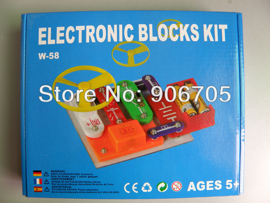 Smart Electronic Block Kit, Electronic Building Circuits Blocks Educational toys , Assembed Toys for Kids free shipping solar educational kit electronic building blocks w 9889 educational appliance toys for kids 1pc lot