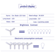 Foldable Adjustable Fan Shaped LED Light Ceiling Lamp