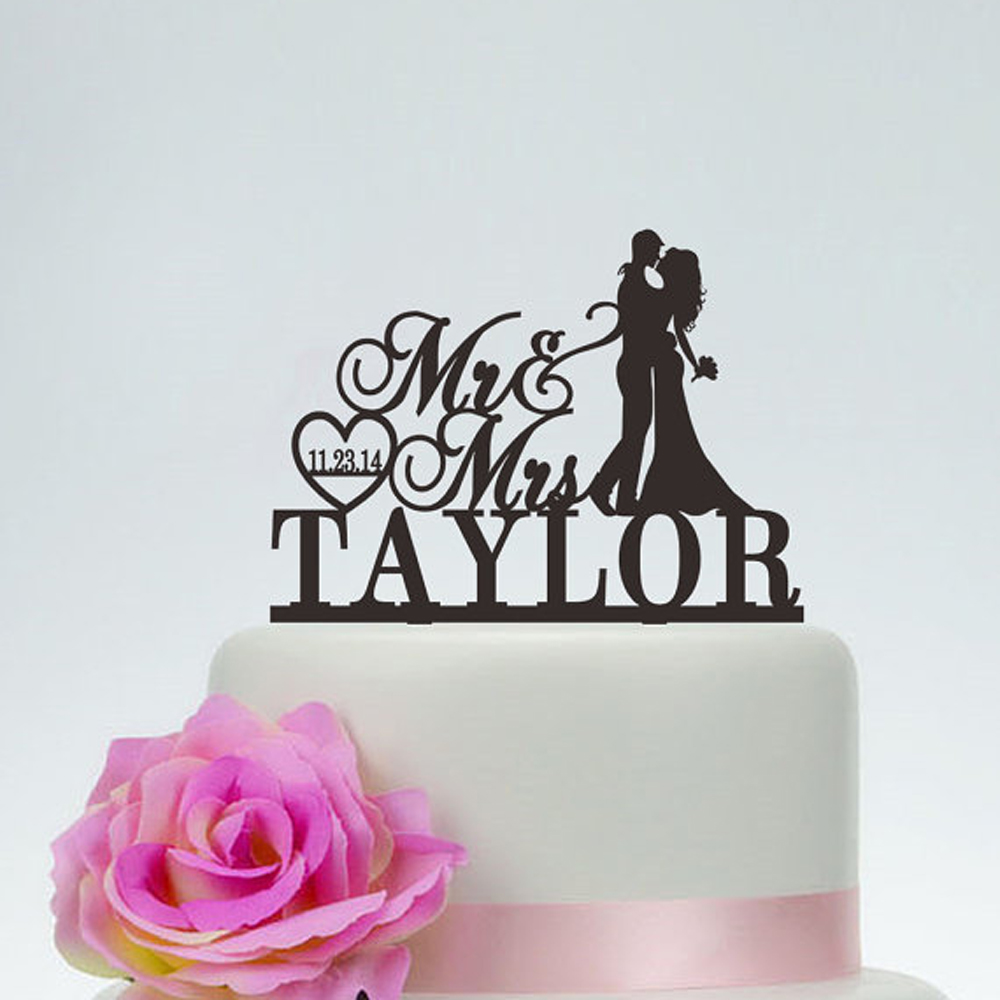 Wedding Mr and Mrs Cake Topper With Surname,Customized Cake Topper with last name and date,Personalized Acrylic wood Cake TopperWedding Mr and Mrs Cake Topper With Surname,Customized Cake Topper with last name and date,Personalized Acrylic wood Cake Topper