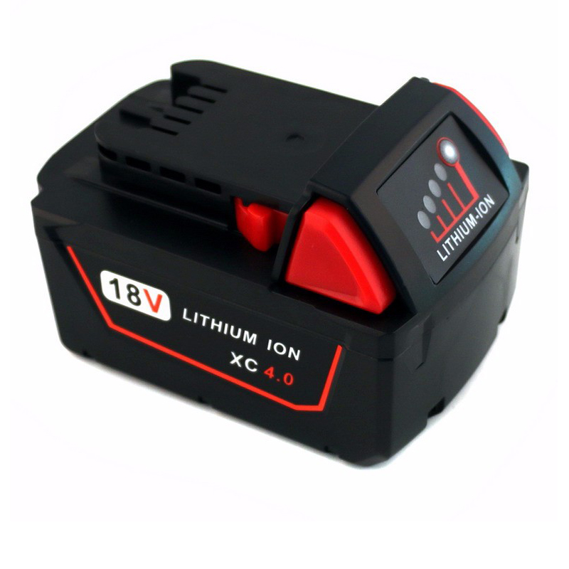 New 18V Red Lithium High Demand 4.0Ah Rechargeable <font><b>Battery</b></font> For <font><b>Milwaukee</b></font> 48-11-1890 <font><b>M18</b></font> Replacement Tool <font><b>Battery</b></font> image