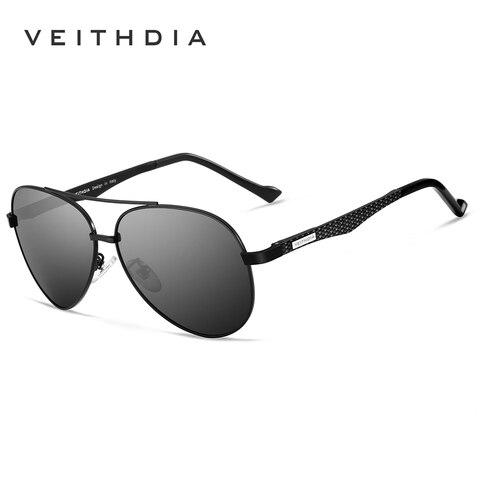 VEITHDIA Vintage Brand Aluminium Magnesium Mens Sunglasses Pilot Sun glasses Eyewear Accessories For Men VT3850 Karachi