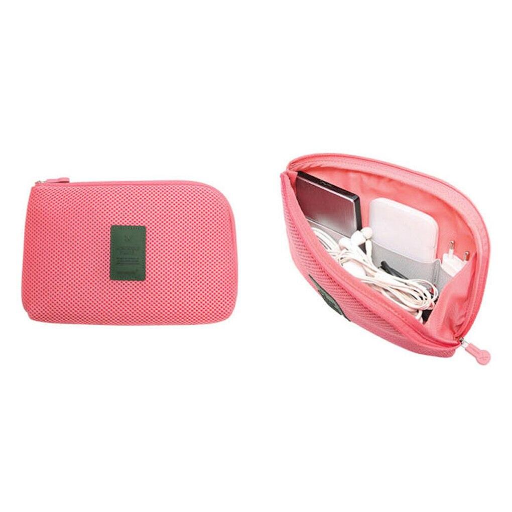 Sac de rangement de voyage, sac de rangement de chargeur de câble de données, sac de poche de bloc dalimentation Mobile, sac de rangement de voyage, sacs à cosmétiques portables étanches