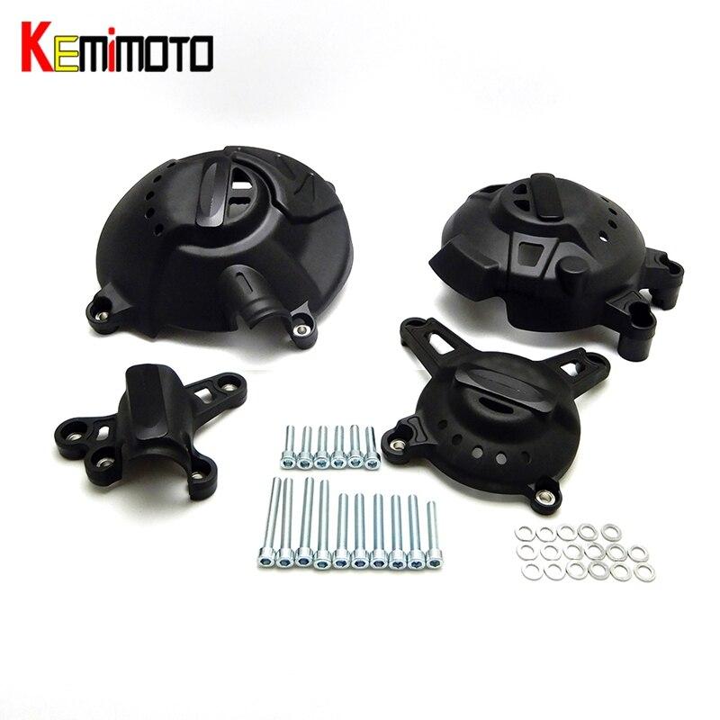 KEMiMOTO Pour Yamaha MT-09 FZ-09 Traceur MT 09 MT09 2013 2014 2015 2016 2017 accessoires Moteur Couverture Protecteur Garde Crash ensemble