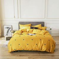 2019 Green Crosses Yellow Brief Bed Cover Duvet Cover Set Cotton Bedlinens Twin Queen King Flat Sheet Fitted Sheet Bedding Set