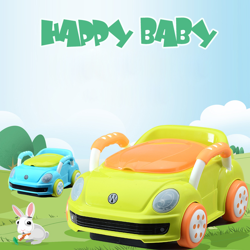 Candy Color Car Style Baby Potty Trainer Plastic Kids Toilet Travel Potty Chair 0-5 Years Old Boy&Girl Potties