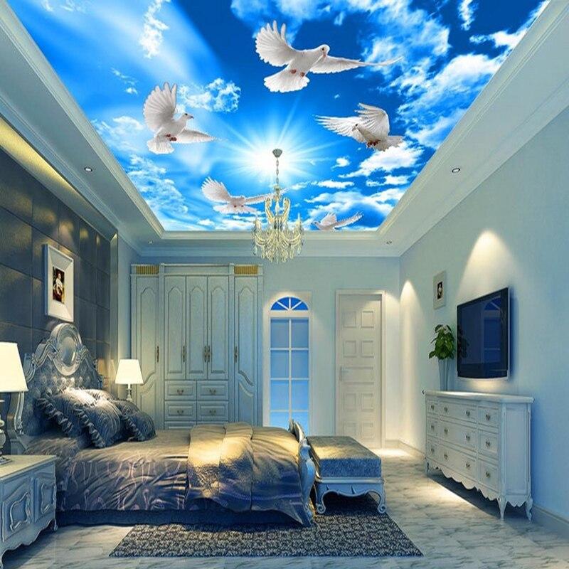 Big Offer C2dd0 Blue Sky White Clouds Sunshine Ceiling Mural