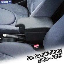Reposabrazos para Suzuki Jimny, caja de almacenamiento Central USB, color negro, novedad de 2000, 2017, 2001, 2002, 2003, 2004, 2014