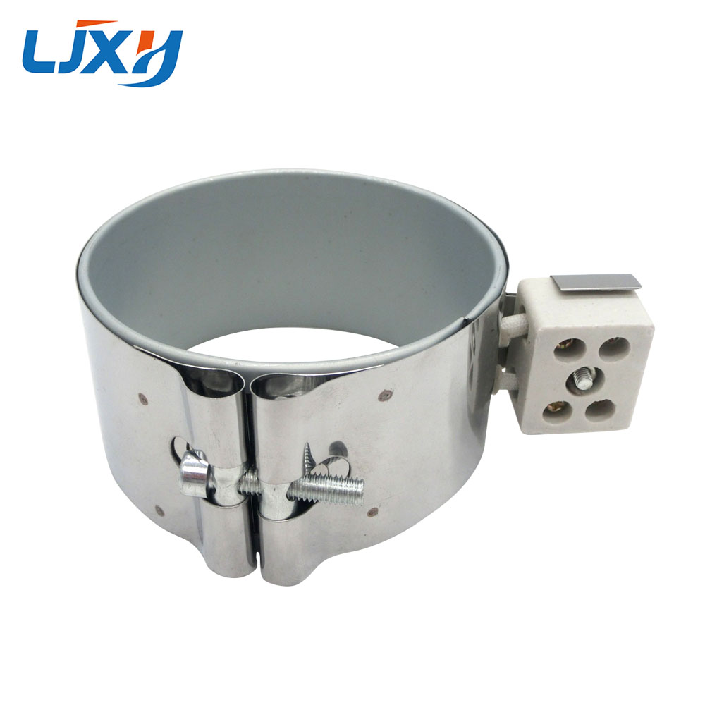 LJXH 80*55mm/60mm/70mm/80mm 220V 400W/450W/530W/650W Stainless Steel Heaters Band Mica Heating Element for Petrochemical ljxh w type electric finned tubular heat pipe m18 16 25 w shape fin heating element 220v 1500w 2000w 2000w 201 stainless steel