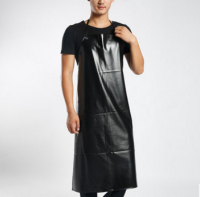 Hot Selling PVC Waterproof Cooking Kitchen Apron Men Long Section Antifouling Male Casual Apron Useful Cooking