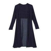 Maxi Cardigan Feminino Sweater Coat Women Knitted Long Sleeve Vintage Black Oversized Sweaters TQ