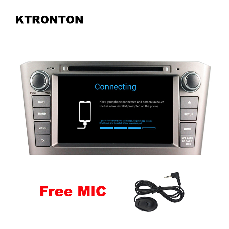 4GB RAM Octa-core <font><b>Android</b></font> 9.0 Car DVD Player for <font><b>Toyota</b></font> Avensis <font><b>T25</b></font> 2003-2008 Radio RDS GPS WiFi DVR, Support SWC OBD DAB+ 4G image