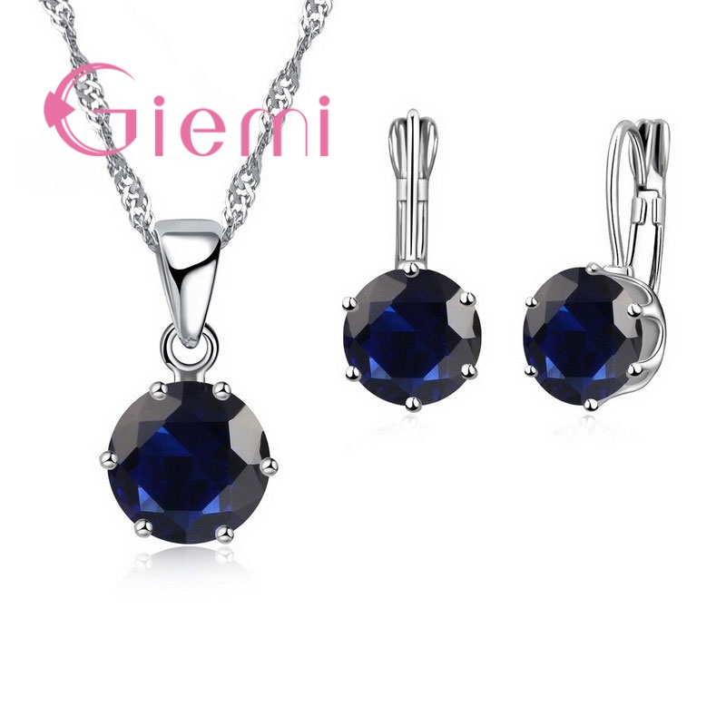 Giemi New Fashion Mewah Perhiasan CZ Set 925 Sterling Silver Earring - Perhiasan fashion - Foto 3
