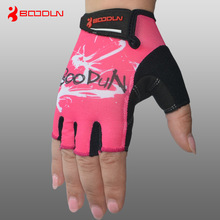 New Brand Womens Summer Sports Semi Finger Cycling Gloves with Ventilation and Shock Absorption