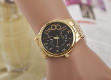 Relogio masculino Relojes de Moda Casual Hombres de Negocios de Acero Inoxidable Reloj de Oro 2016 de La Nueva Venta Dígitos Reloj Hombre Relojes de pulsera de Cuarzo