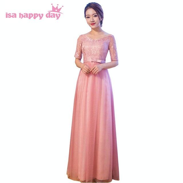 Moda damas elegante cuello en V mujeres vestido formal ocasión especial sexy vestidos de fiesta largos vestidos para ocasiones especiales 2018 H3979 ...