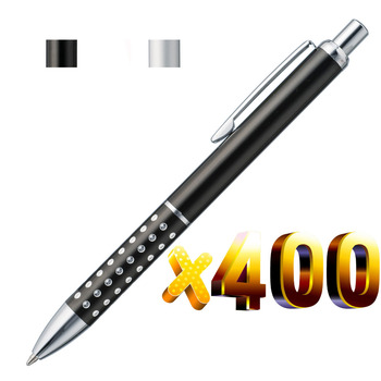 Lot 400pcsCheap Metal Ball Pen,Aluminium Dot Grasp,Free Laser Engraved Company Logo&Text,Customized Promotional Event Gift