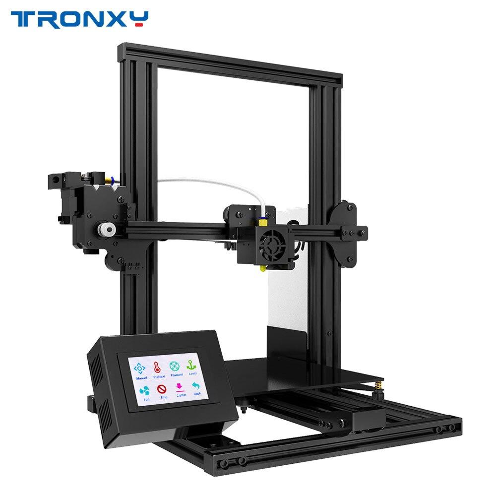 TRONXY Desktop 3D Printer XY-2 Upgraded Resume Power Failure Printing 220*220mm Tempered Glass Optional V-slot 3D Drucker KITTRONXY Desktop 3D Printer XY-2 Upgraded Resume Power Failure Printing 220*220mm Tempered Glass Optional V-slot 3D Drucker KIT