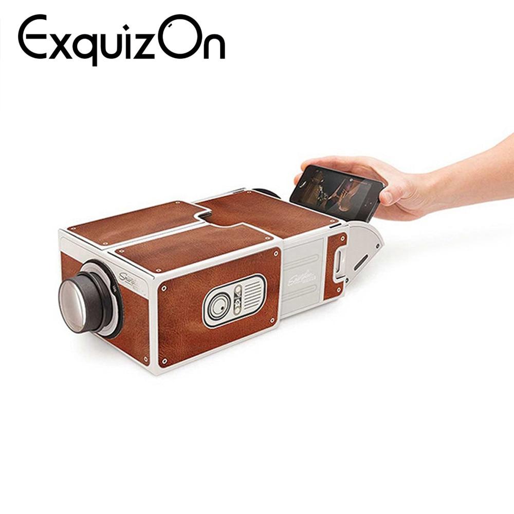 Verantwortlich Exquizon Tragbare Diy Projektor Smart Telefon Projektor Kino Tragbare Mini Projektor Spielzeug Geschenk Für Unterhaltung Exquisite Verarbeitung In