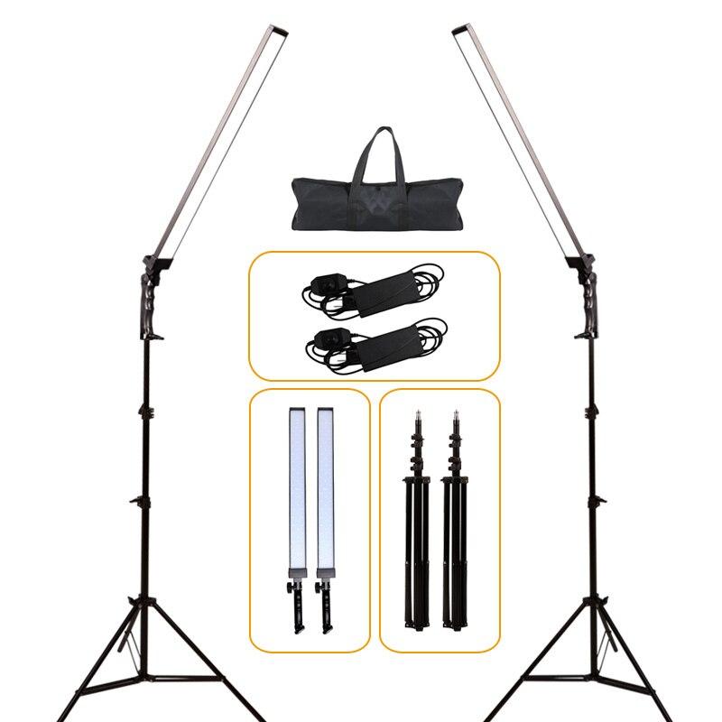 GSKAIWEN Professionnel Dimmable Photographie La Lumière Studio Téléphone Vidéo LED Lampe D'éclairage Avec Trépied Stand Pour Caméra Tir