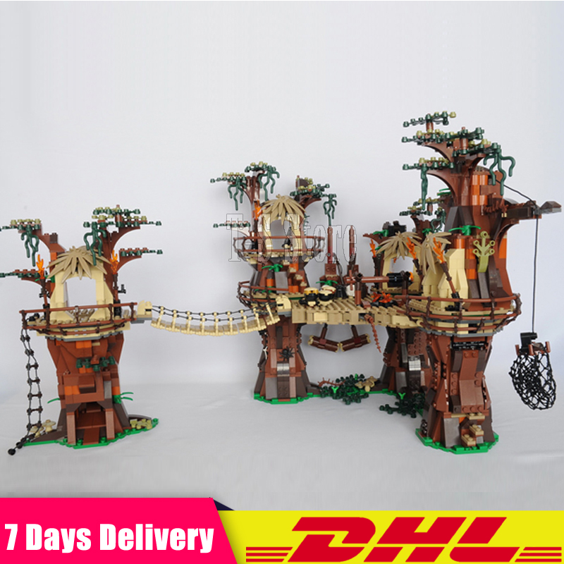 MOC 10236 DHL LEPIN 05047 1990pcs Star Series War The Ewok  Village Model Building Blocks Bricks Educational Funny Fit For 10236 rollercoasters the war of the worlds