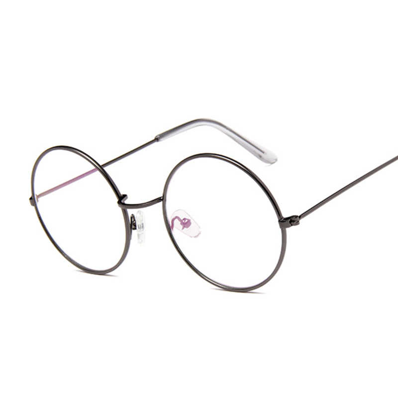 d1d00226354 Retro Glasses Round Men Women Optical Frame Transparent Glasses Frames with  Clear Vintage Oval Glass Male Female Spectacle