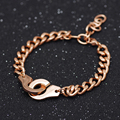 Popular Dihn Van High Polished 316L Stainless Steel Handcuffs Menottes Bracelet for Couples Valentine's Day  BW8889
