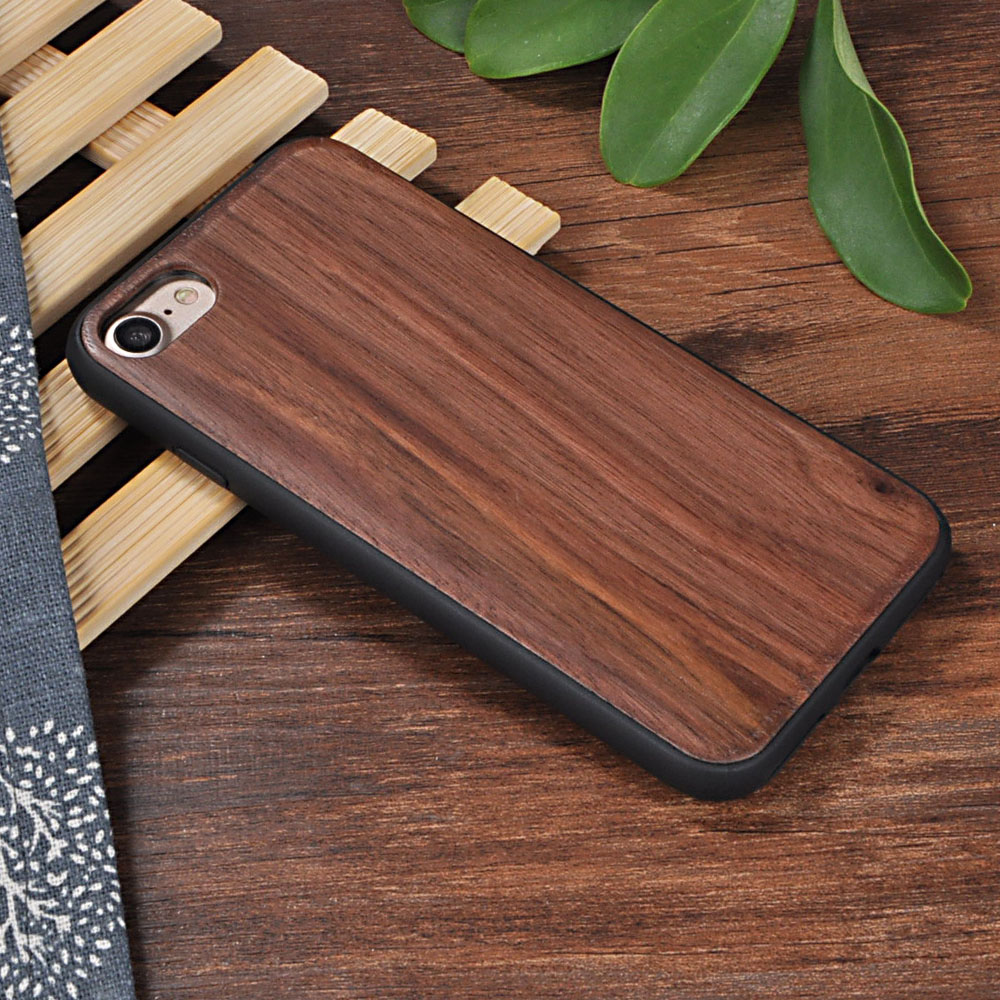 cheaper b1a52 37c36 US $10.39 |Wood Case For iPhone 7 7S 7G Bamboo Case + TPU Rosewood Cover  For iPhone 7 Walnut Wooden +TPU Edge Nature Hard Back Shell on  Aliexpress.com ...