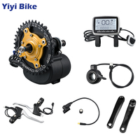 Tongsheng TSDZ2 Mid Drive Motor 36V 48V 250W 350W 500W Electric Bike Conversion Kit Integrated Controller VLCD5 Speed Sensor