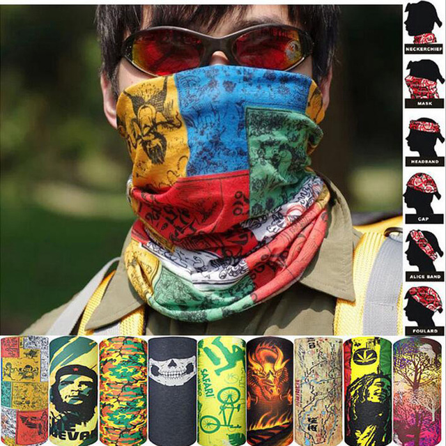 Colorful Headband New Design Custom Pattern Tube Bandana Sports Headwear Cycling Men's Scarf Face Shield Headband Muslim Hijab
