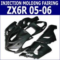 Matte Black Fairings zx6r 05 06 Fairing kit For Kawasaki NINJA ZX 6R 2005 2006 =full plastic parts p52