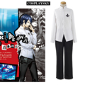 Persona 5 Китагава Юсуке Косплей Костюм Новый P5 Школьная форма Белая Рубашка Черные Брюки мужской Костюм Полный Комплект