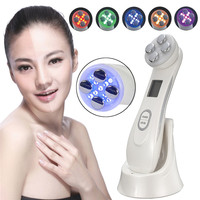LED Photon Skin Care Beauty Machine Face Skin Mesotherapy Electroporation RF Radio Frequency Facial LED Face