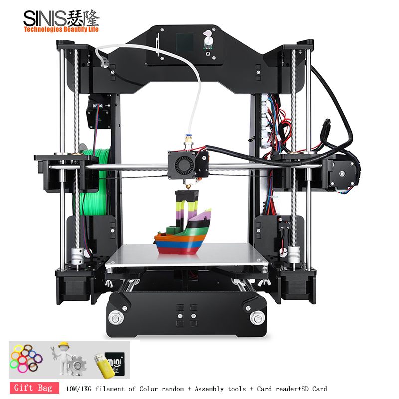 2018 Sinis Z1 3d Imprimante Reprap i3 kit de bricolage mini Imprimante 3D Imprimante Grand Taille 220*220*240 MM et filament + 8G SD carte 3D Imprimante
