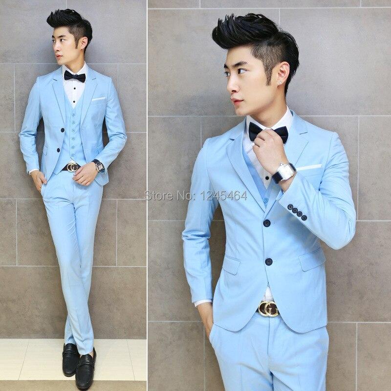 5 colors 2014 new Korean Slim fit men casual suits groom suits ...