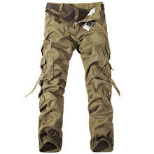 2017 hohe qualität Männer Cargohose multitaschen Baggy Pants Baumwolle Military Camouflage Hose
