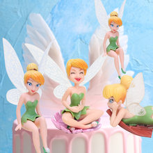 4pcs/lot Q Posket Princess Figure Tinkerbell Fairy Cake Decorations PVC Action Figures Tinker Bell Fairies Model Doll Toys Gifts(China)