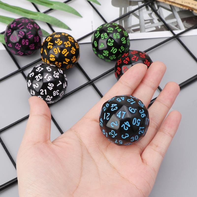 OOTDTY 6Pcs 60 Sided <font><b>D60</b></font> Polyhedral <font><b>Dice</b></font> For Casino D&D RPG MTG Party Table Board Game image