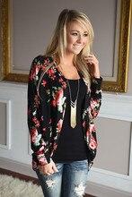цены New Fashion Autumn and Winter Long Sleeve Irregular Kimono Cardigan Ladies Tops Women Floral Printed Blouse