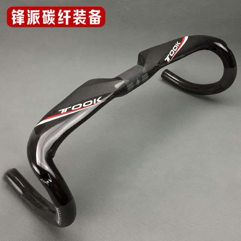 TOSEEK Ultra Light Full Carbon Fiber 31.8mm Handlebar BMX Road Bike Bent Bar Racing Handlebar 400/420/440mm Handlebar GlossTOSEEK Ultra Light Full Carbon Fiber 31.8mm Handlebar BMX Road Bike Bent Bar Racing Handlebar 400/420/440mm Handlebar Gloss