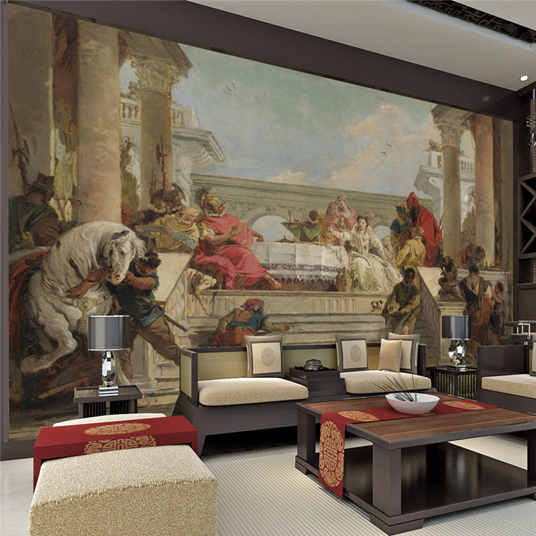 Popular famous painting wallpaper buy cheap famous for Classic mural painting