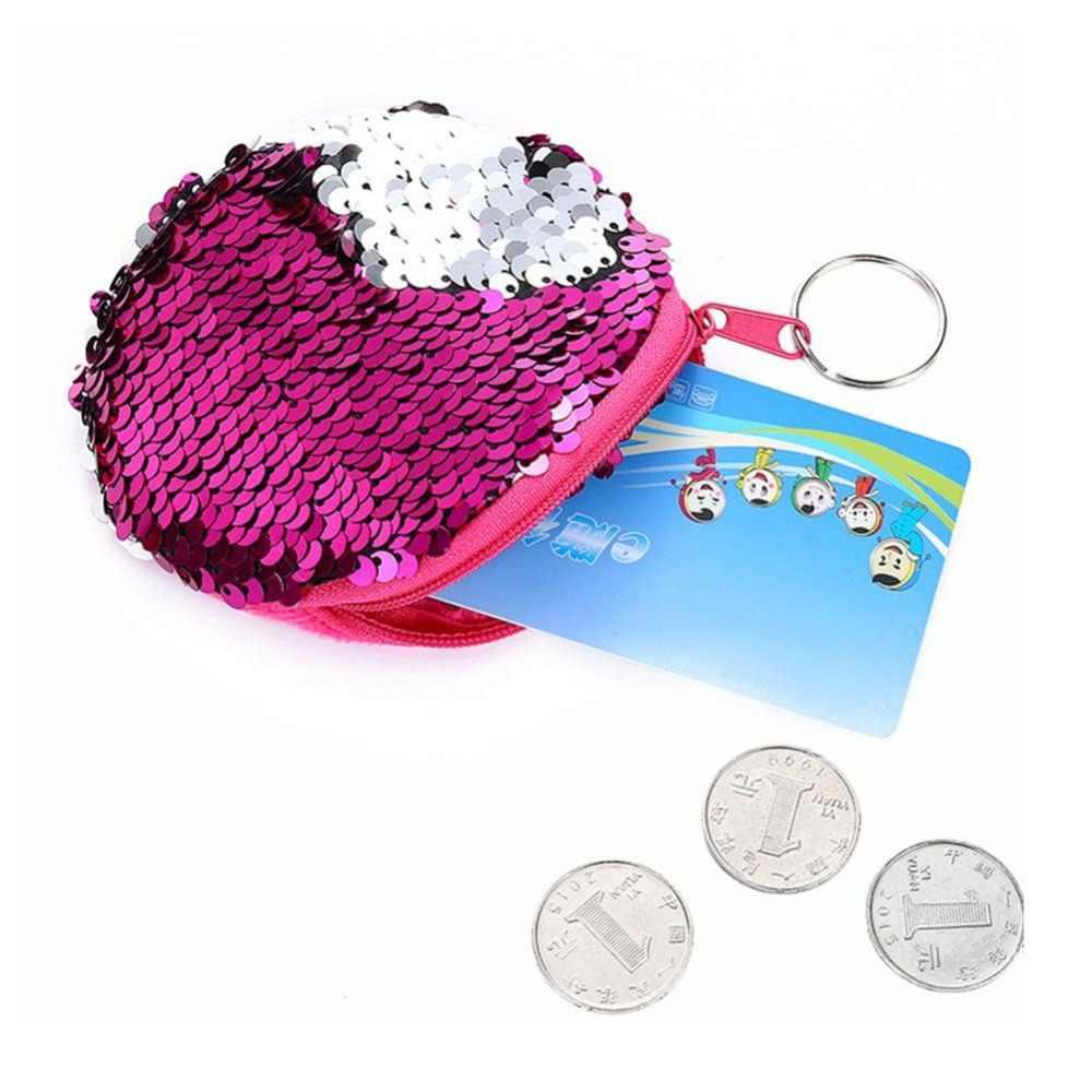 Mode Vrouwen Mermaid Paillette Portemonnees Houder Meisje Kinderen Mini Change Portefeuilles Money Bag Coin Bag Kinderen Zipper Pouch