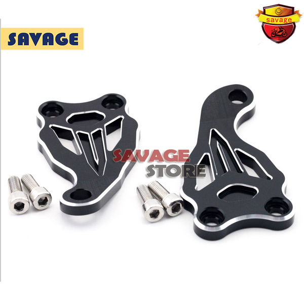 ФОТО Motorcycle Accessories Fixed Frame and Engine Mounting Bracket Slider Cover For YAMAHA MT07 FZ07 MT-07 FZ-07 2014-2016  Black