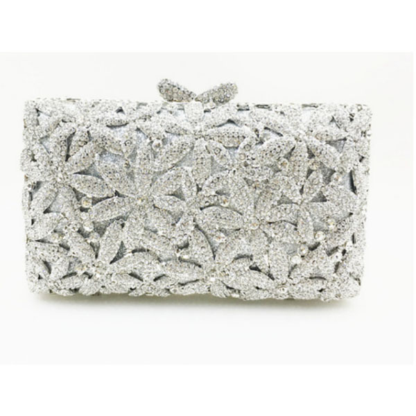 Cristal clair strass soirée pochette mariage sac femmes métal Minaudiere sac à main sac à main de mariée sac à main bleu/argent/rose