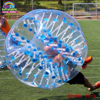 Amazing 1.5m bubble football with pump,1.0mm PVC inflatable human hamster ball for sale