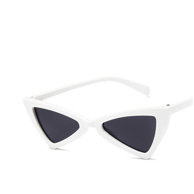 1b3aa33656 Fashion cat eye sunglasses women sunglass small black white triangle men  sun glasses tag female uv400 mirrors oculos de grau