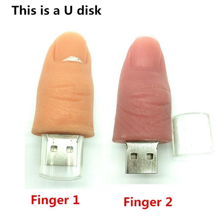 pen drive cartoon model of a human finger 8GB 16GB 32GB 64GB usb 2.0 flash memory stick pen flash drive / car usb / gift