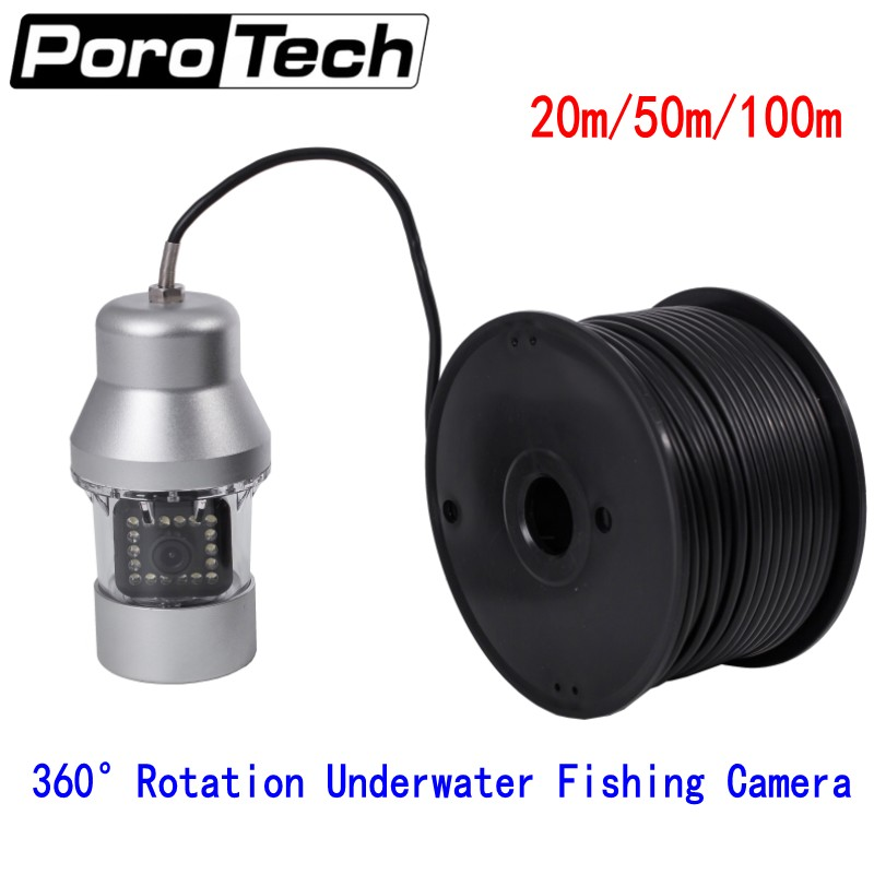 Free DHL F08S 20m/50m/100m Underwater Camera 360 degree Rotating Fishing Camera Sony CCD 1000TVL Underwater Fish Finder system