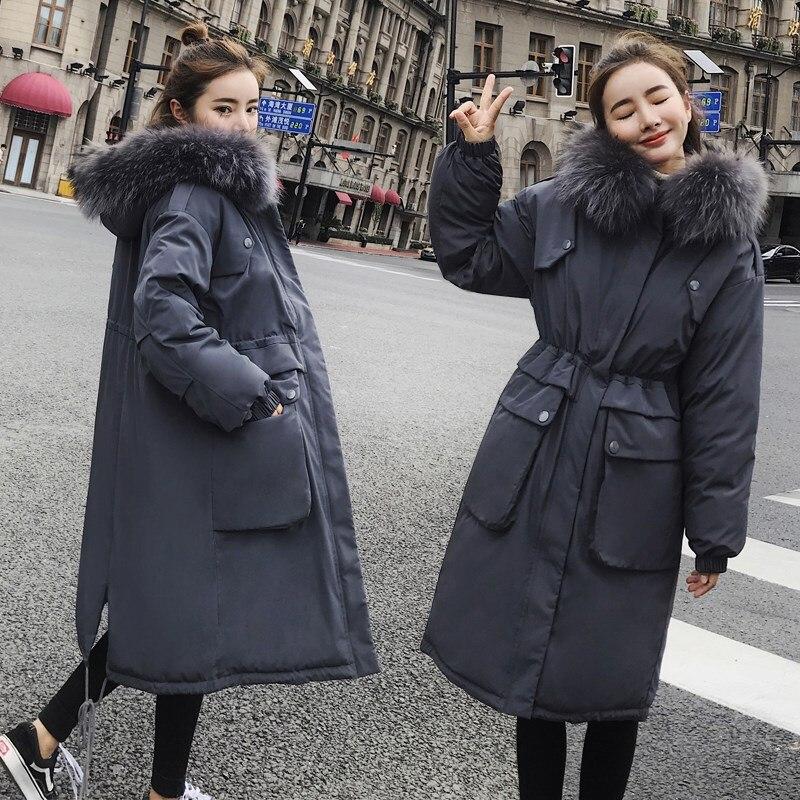 Lungo Invernale Colore Giacca 2018 Caldo Donne Coreano