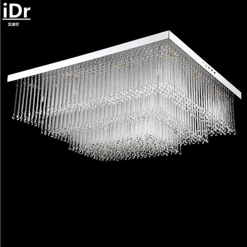 ᓂEenvoudige rechthoekige LED crystal plafondlamp slaapkamer ...
