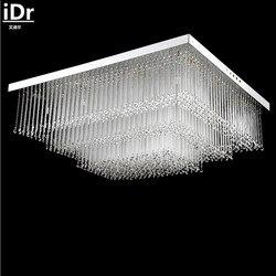 Proste prostokątna LED kryształ lampa sufitowa sypialnia lampy do salonu klimatycznej restauracji lampy sufitowe iDr-0128